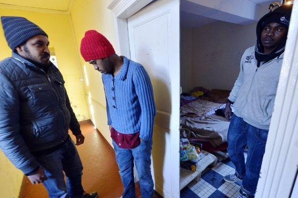 Des migrants à Nantes.