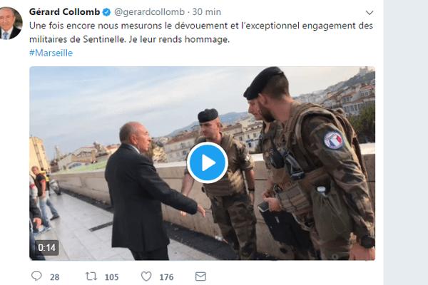 Compte Twitter de Gérard Collomb