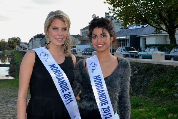 Sophie Duval (Miss Normandie 2011) et Pauline llorca (Miss Normandie 2012)