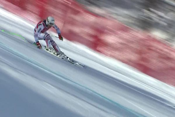 Johan Clarey, meilleure chance française sur le papier, termine 5e sur la descente de Val d'Isère.