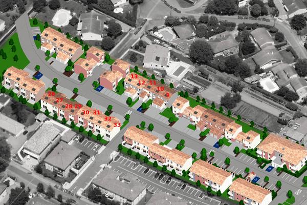Photo montage d'un projet immobilier à Frouzins