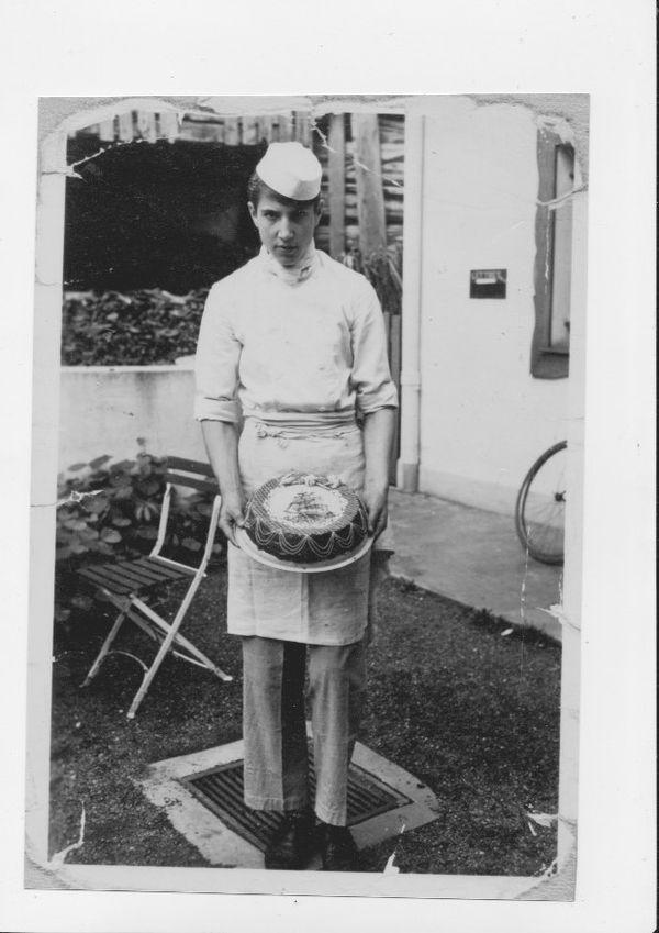 Le jeune Michel Grobon, à l'aube d'une grande carrière de chef cuisinier