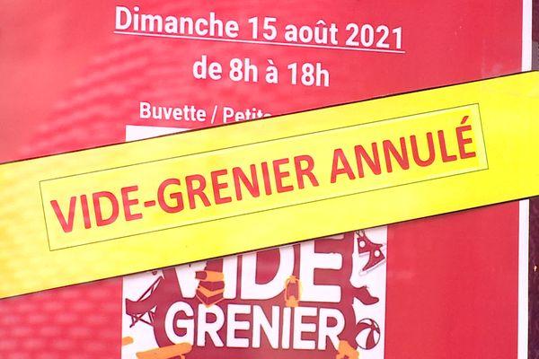 Le vide-grenier de Gy en Haute-Saône a été annulé en raison de l'obligation du pass sanitaire.