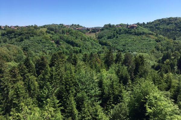 La magnifique vue depuis le rocher Blanc.