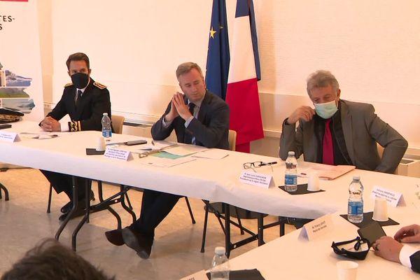 Jean-Baptiste Lemoyne, secrétaire d'Etat au tourisme a participé à une table ronde avec les acteurs économiques lourdais.