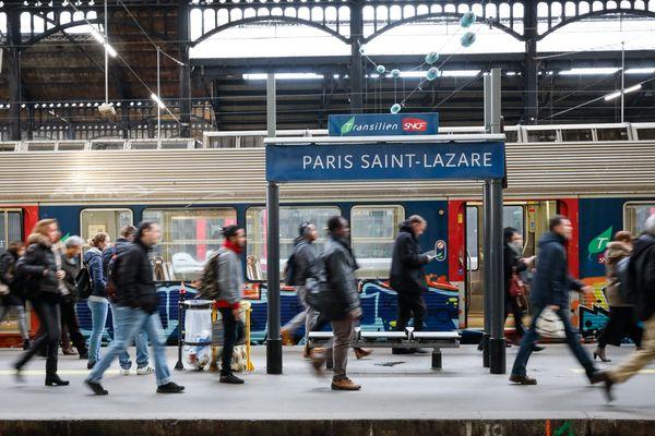 Premier jour de grève gare Saint-Lazare