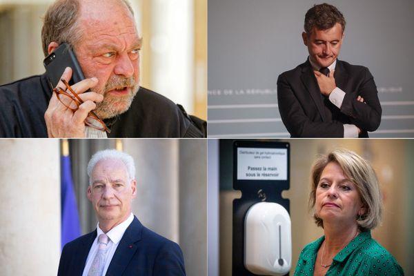 Eric Dupont-Moretti, Gérald Darmanin, Alain Griset et Brigitte Bourguignon font partie du nouveau gouvernement Castex.