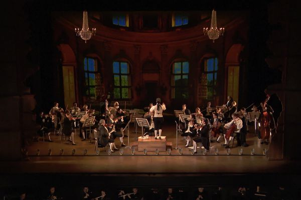 """""""Die Opernprobe""""  -  L'orchestre sur scène et dans la fosse"""