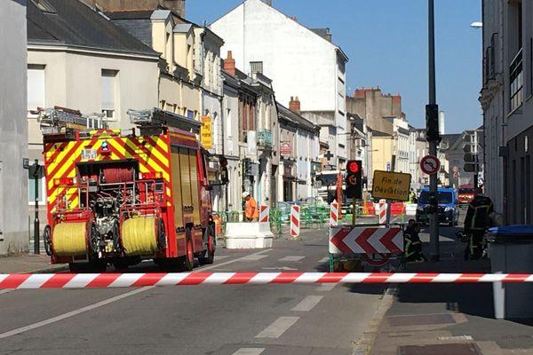 Une fuite gaz ce 28 mai sur un chantier proche de l'hôpital Saint-Jacques à Nantes, pas de victime, mais des personnes évacuées ou confinées chez elles