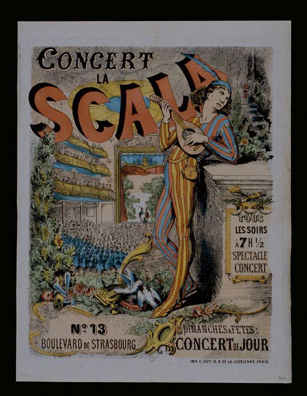 Affiche de l'inauguration de La Scala 1873