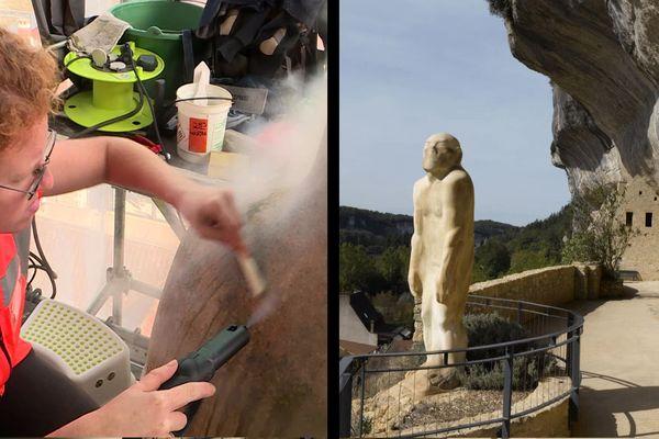 Après 90 ans de veille au-dessus de la Vallée de la Vézère, il était temps d'offrir une toilette à l'Homme Primitif