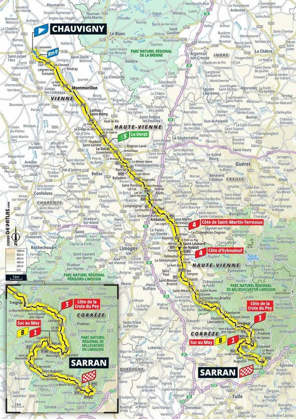 CARTE - 12ème étape Tour de France 2020