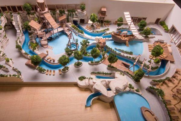 Maquette de l'Aquapark