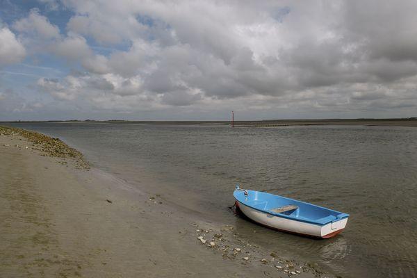 La baie de Somme vue du port de Saint-Valery-sur-Somme, en août 2018.