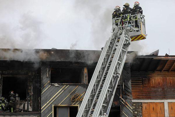 Le bâtiment qui a brûlé abritait les saisonniers à Courchevel.