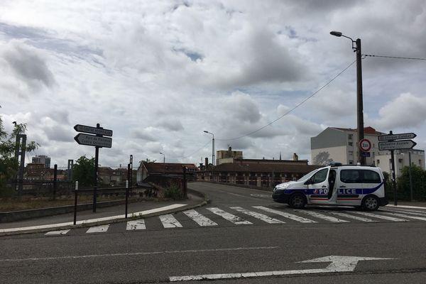 Le pont Picketti a été coupé à la circulation le temps des premières constatations.