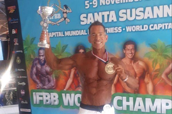 Jean-Philippe Cesari, bodybuilder bastiais, a été sacré champion du monde de sa discipline en Espagne ce samedi 7 novembre.