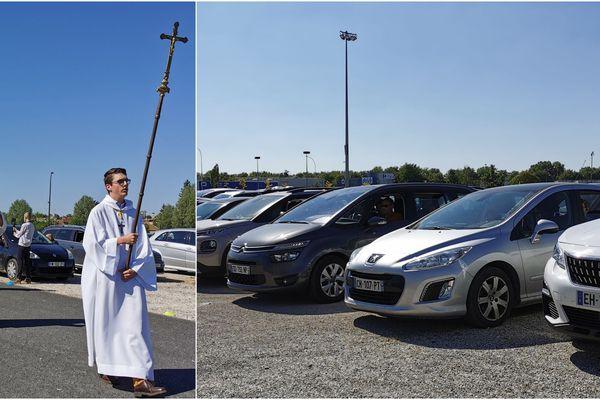 La messe drive s'est tenue ce dimanche 17 mai au capitole de Châlons-en-Champagne
