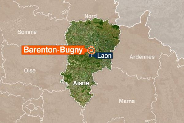 Carte de Barenton-Bugny dans l'Aisne.
