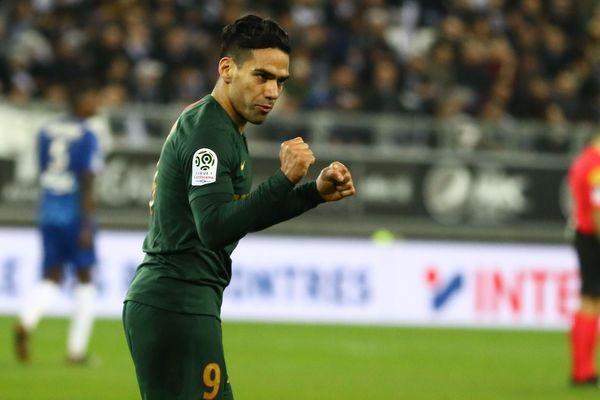 Falcao laisser éclater sa joie après avoir réalisé un doublé face à Amiens hier soir en ligue 1.