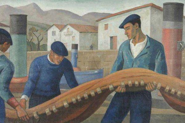 """La pièce maîtresse de cette sublime collection : """"Les Pêcheurs du Port"""" de Ramiro Arrue"""