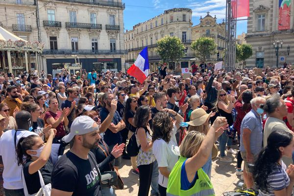 Manifestation contre le pass sanitaire à Montpellier