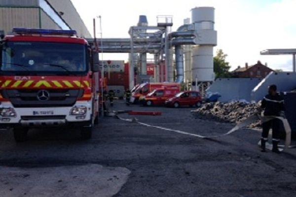 Les sapeurs pompiers en action.