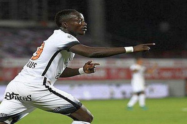 Casimir Ninga, auteur des 3 buts montpelliérains contre Dijon - 2016