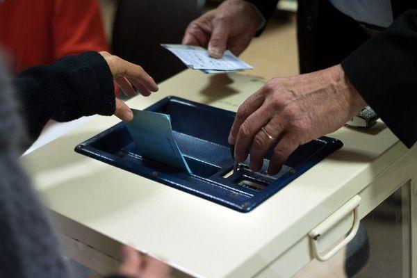 Un bureau de vote (illustration).