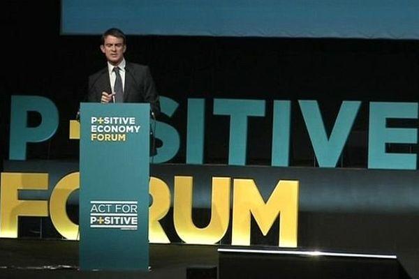 Manuel Valls à la tribune du LH Forum 2014