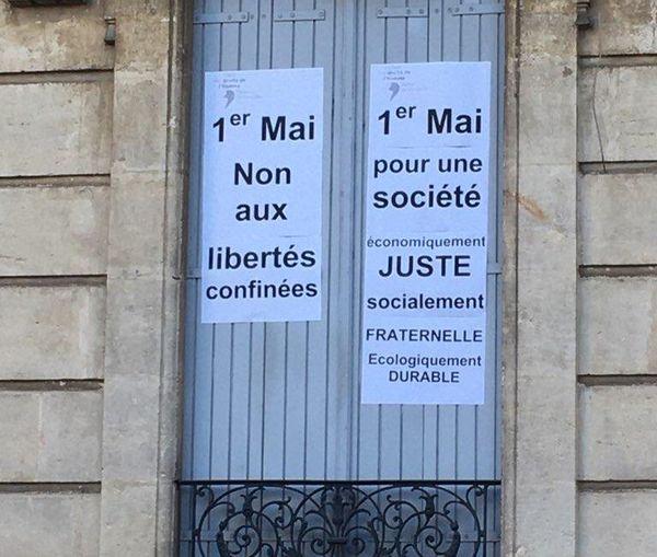 Montpellier - des affiches pour une société plus juste - 1er mai 2020.