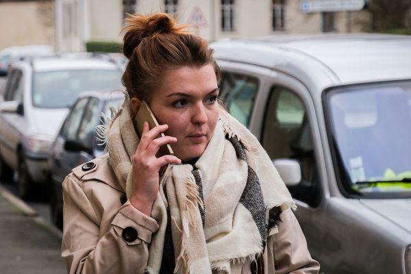 Céline Roy à sa sortie du tribunal correctionnel en janvier 2019.