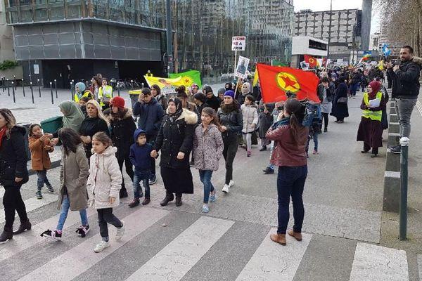 Rennes : manifestation kurde contre les frappes turques en Syrie