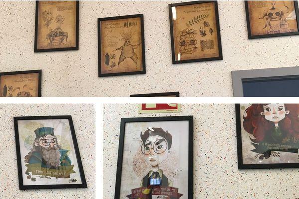 La décoration murale de l'exposition Harry Potter au Pixel Museum est signée Anne-Sophie Schlick, alias Little Pea.