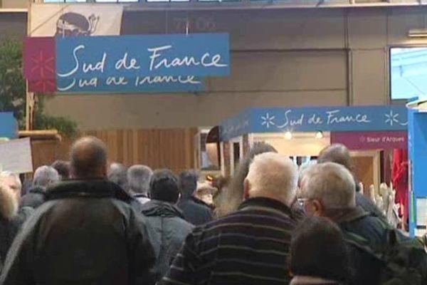 Paris - le stand Sud de France au salon de l'agriculture - 26 février 2013.