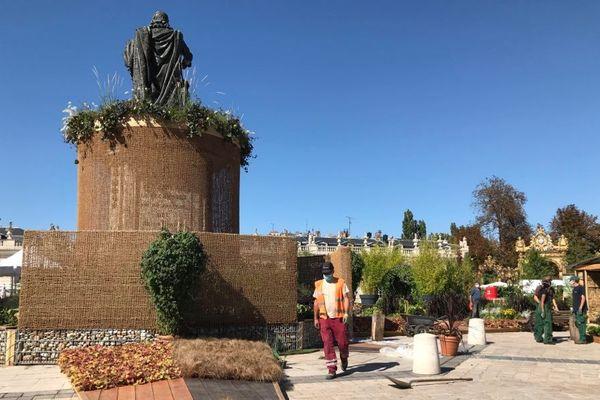 Le jardin éphémère place Stanislas à Nancy.