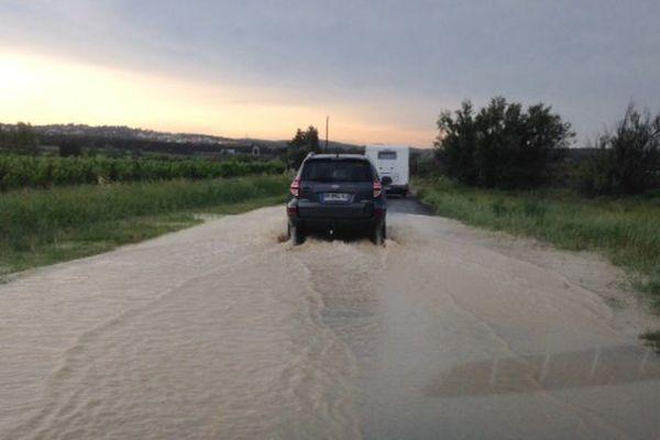 Les inondations à Bages dans l'Aude - 12 juin 2015.