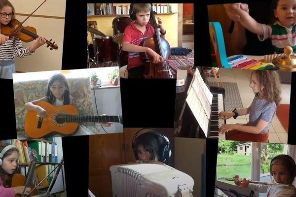 La situation a permis aux élèves de l'école de musique de Noblat, en Haute-Vienne, de s'illustrer sur les réseaux sociaux.