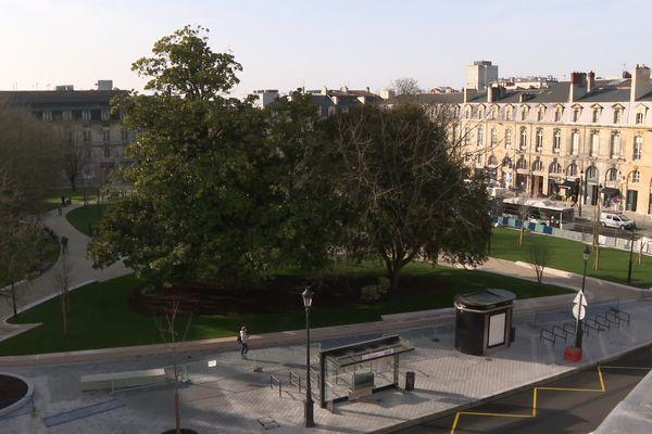 La nouvelle place Gambetta à Bordeaux.