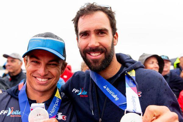Mathieu Frei et Noé Delpech, vice-champions du monde de 49ER