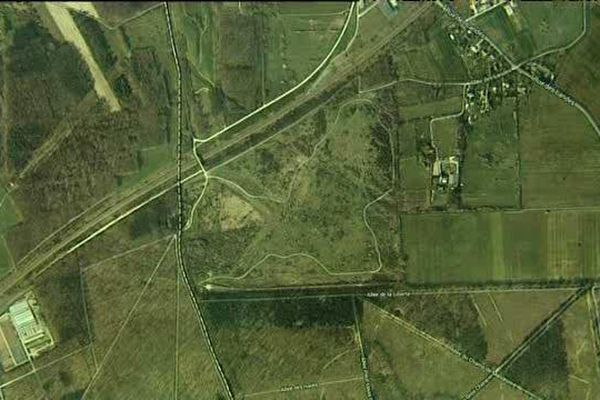 le site de Larcay vu du Ciel (Indre et Loire)