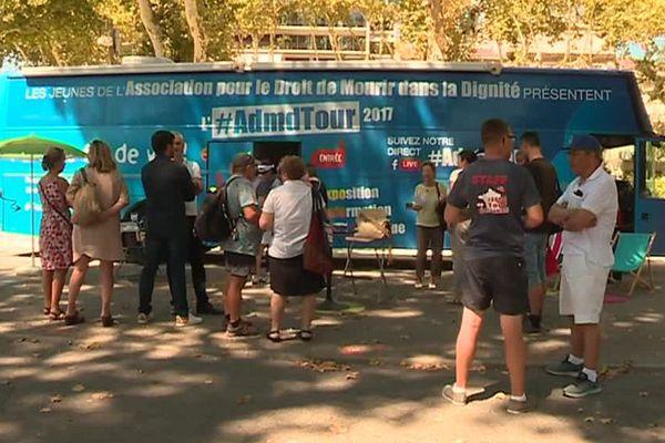 Bus Admd fait une halte à Montpellier