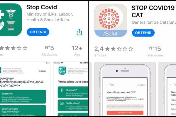 Les deux applications Stop Covid déjà téléchargeables.