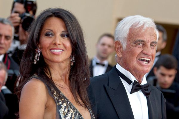 Barbara Gandolfi et Jean-Paul Belmondo à Cannes en 2011.
