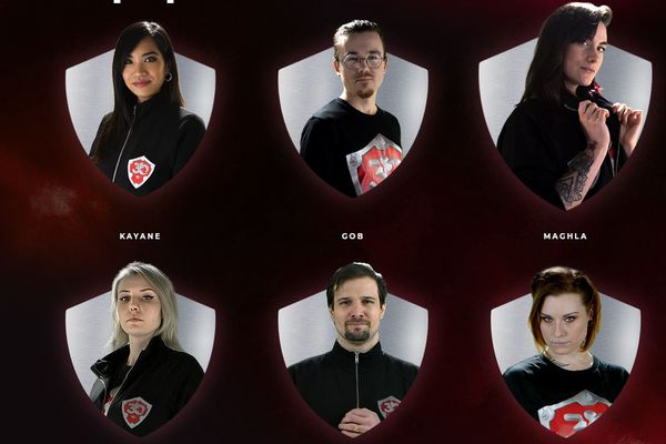 "Les six ""Justiciers du coeur"" : Kayane, Gob, Maghla, Jeel, Gius et Trinity"