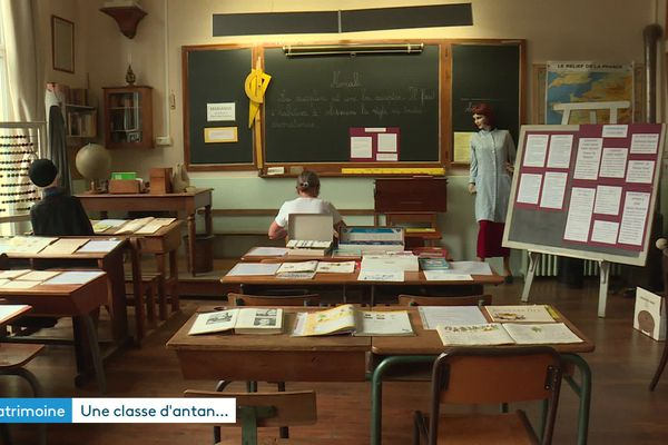 Une classe telle qu'elle était au XIXe siècle, devenue musée. Située à l'école Jean-Macé, à Lyon 7e, elle sera ouverte au public pour les Journées du Patrimoine 2021