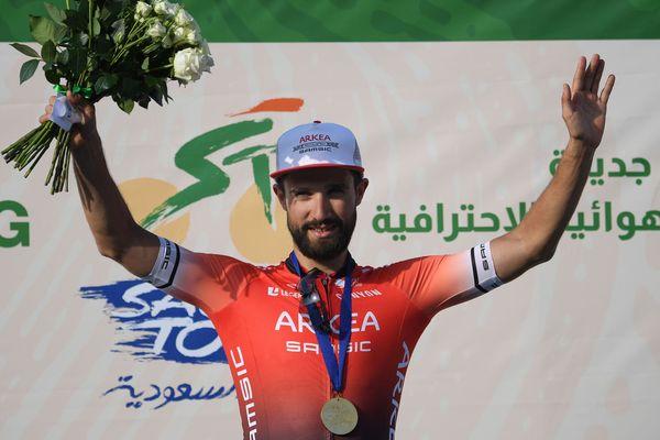 Nacer Bouhanni, leader de l'équipe Arkea-Samsic, vainqueur du Saudi Tour 2020.