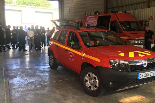 Le VLSM, qui était dédié au secours à personne, et transportait un pompier et un infirmier pompier.