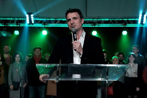 Eric Piolle, maire écologiste sortant de Grenoble, le 13 mars dernier, deux jours avant le premier tour des municipales