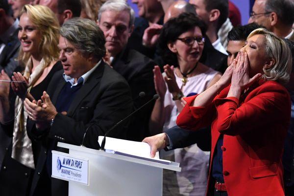 Le meeting de Marine Le Pen perturbé lundi soir, au Zénith de Paris.